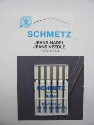 Nähmaschinennadeln Schmetz 705 H-Jeans Sortiment Stärke 90-110