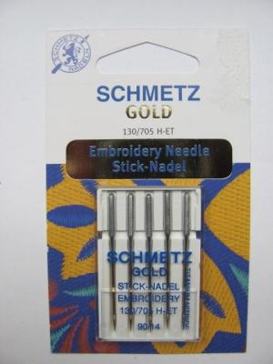Nähmaschinennadeln Schmetz 705 H-ET GOLD Sticknadeln Stärke 90