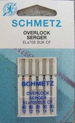 Overlock/Coverlock Jersey Nadeln ELx705 SUK CF Stärke 80-90 Schmetz