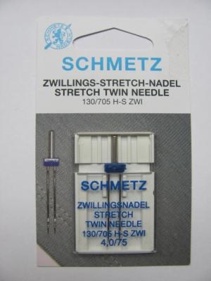 Zwillingsnadeln Schmetz 705 H-S ZWI 4,0-75 Stretch