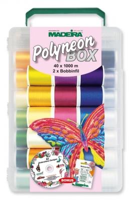 Polyneon Box MADEIRA Stickgarn  40 Spulen á= 1000m