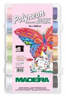 Polyneon smart-box MADEIRA  Stickgarn  18 Spulen á= 1000m